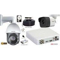 Kit complet supraveghere Hikvision Speed Dome FullHD,IR 100m