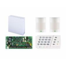 Kit alarma antiefractie Paradox Spectra SP4000 cu cutie cu traf  + K636 + 2x 476+, 4 zone, 2 partitii, 256 evenimente