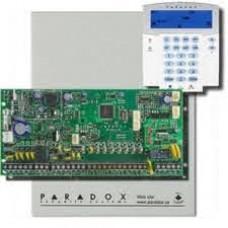 Kit alarma antiefractie Paradox Spectra SP6000+K35, 2 partitii, 8-32 zone, 32 utilizatori, cutie cu traf