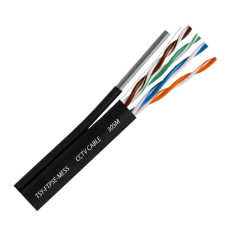 Cablu FTP autoportant, cat 5E, CUPRU 100%, 305m, negru