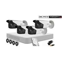Kit supraveghere HIKVISION 4 Camere FULLHD, 1080P, IR 40m, HDD 500GB