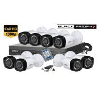Kit supraveghere Dahua 8 camere 1080P, IR 20, HDD 1TB