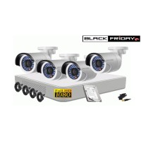 Kit supraveghere HIKVISION 4 camere FULLHD 1080p, IR20m, HDD 500 GB