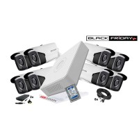 Kit supraveghere Hikvision 8 camere 1080P, IR 40, HDD 1TB